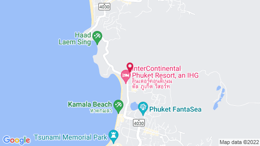 Novotel Phuket Kamala Beach Map