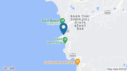 Surin Beach Resort Map