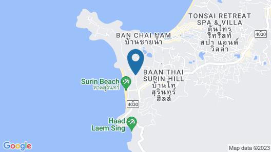 Novotel Phuket Surin Beach Resort Map