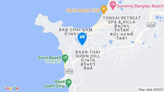 6th Avenue Surin Beach Map