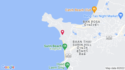 The Surin Phuket Map