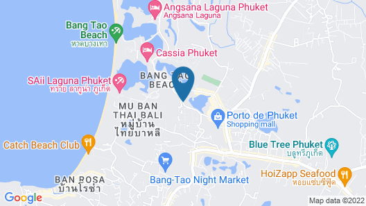 The Regent Phuket Bangtao Beach Map