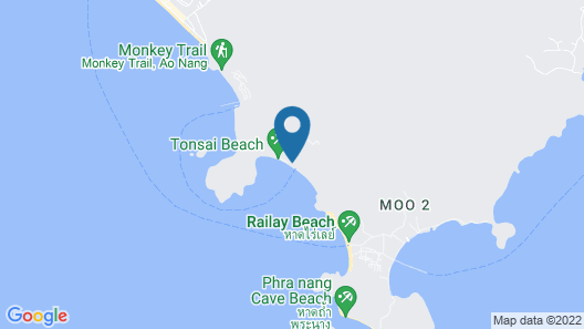 Tinidee Hideaway Tonsai Beach Krabi Map