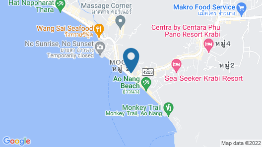 Ao Nang Seafront Thai Resort Map