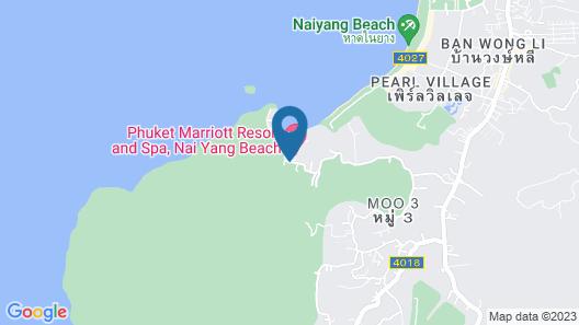 Phuket Marriott Resort and Spa, Nai Yang Beach Map