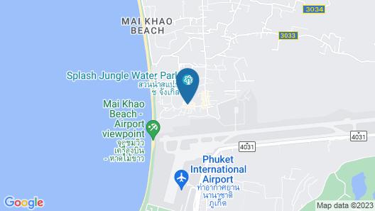 Splash Beach Resort, Mai Khao, Phuket Map