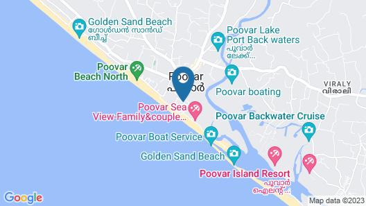 Poovar Island Resort Map