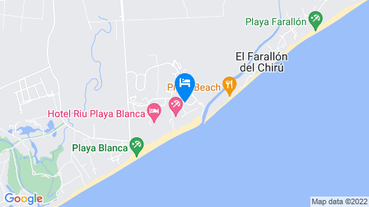 Playa Blanca Beach Resort - All Inclusive Map