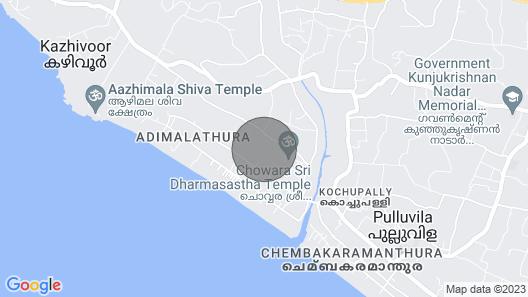 Nirvaana Boutique Resorts - Trivandrum, Kerala Map