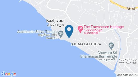 Soma Manaltheeram Ayurveda Beach Village Map