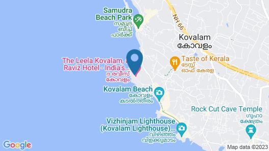 The Raviz Kovalam Map