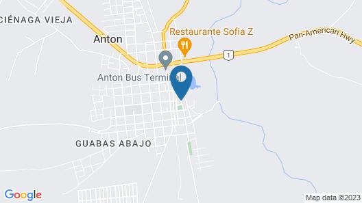 Hostal Las Catalinas Anton Panama Map