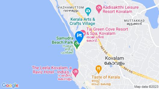 Uday Samudra Leisure Beach Hotel Map