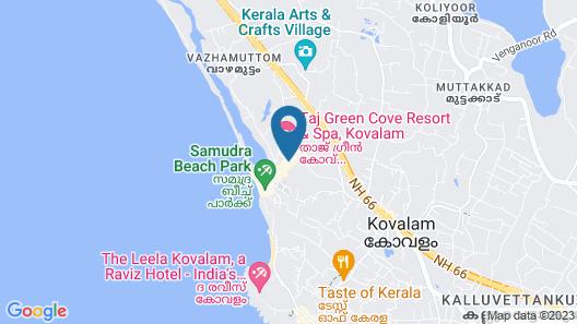 Taj Green Cove Resort & Spa Kovalam Map