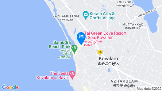 Taj Green Cove Resort & Spa Kovalam Map