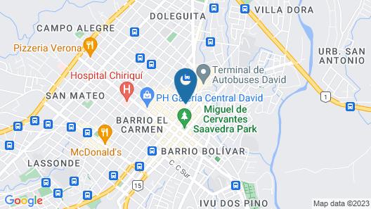 Hotel Ciudad De David Map