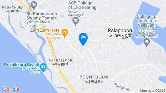 Sivasoorya Ayurveda Healing Ashram Map