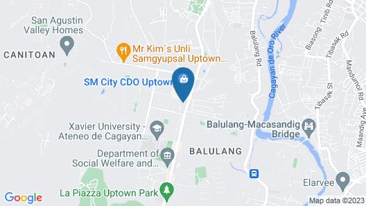 Cozy 2 BR Condominium w/ Modern Features in Uptown, Cagayan de Oro City Map