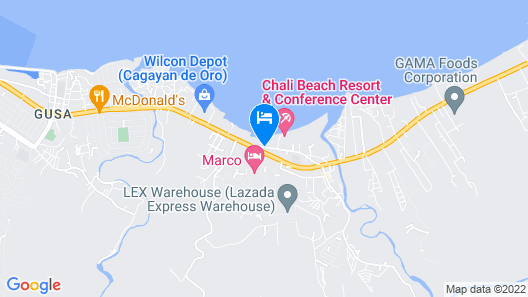 Chali Beach Resort and Conference Center Map