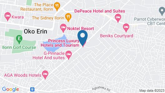 Princess Luxury Hotels Map