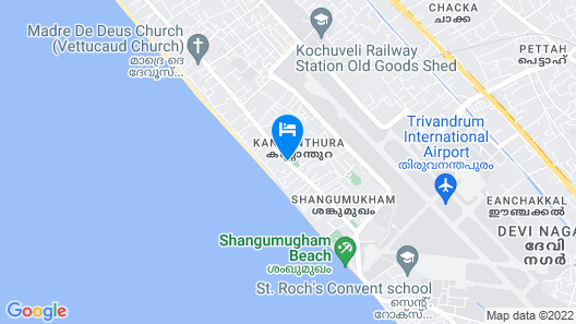 Mary Land Homestay, Deluxe Villa. Near Trivandrum Airport, Beach Map