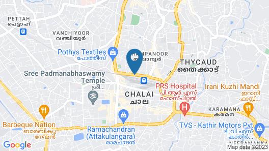 KTDC Chaithram Trivandrum Map