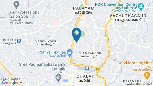 Ridges Hotels Trivandrum Map