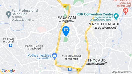 Hilton Garden Inn Trivandrum Map