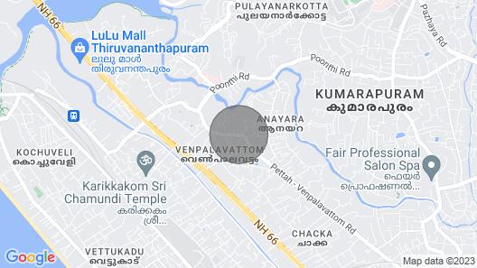 Peace Rooms Trivandrum Map