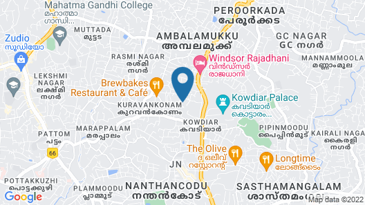 Luxury 3-bed Serviced Apartment in Trivandrum Map
