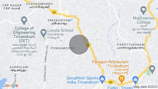 Serene Homestay-Trivandrum Map