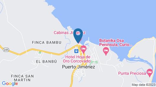 Cabinas Jimenez Map
