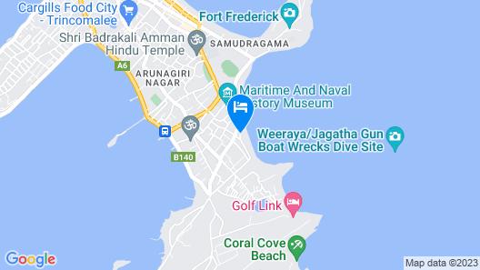 Trinco Beach Hotel Map