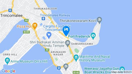 Trincomalee Beach Resort & spa Map