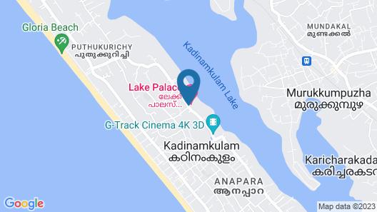 Lake Palace Hotel Trivandrum Map