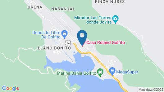 Hotel Casa Roland Golfito Resort Map
