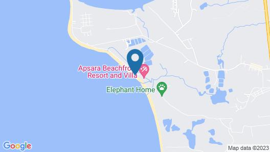 APSARA Beachfront Resort and Villa Map
