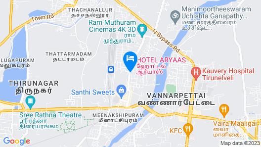 Hotel Aryaas Map