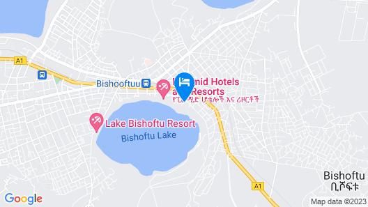 Asham Africa Hotel and Resort Map