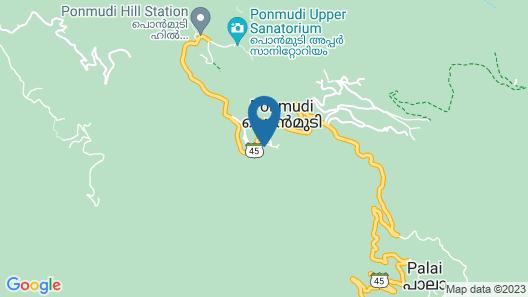 KTDC Golden Peak Ponmudi Map
