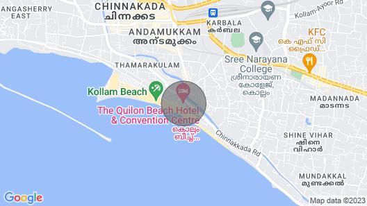 Akshara, villa near kollam beach,pallithottam, beach road, kollam, kerala, India Map