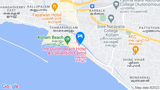 The Quilon Beach Hotel and Convention Center Map