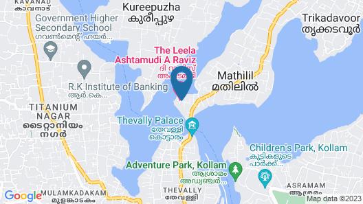 The Raviz Ashtamudi Map