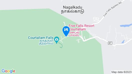5 Falls Resort Map