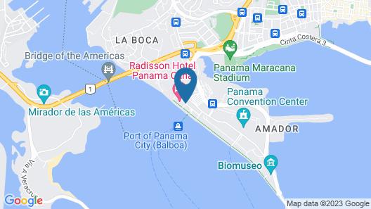 Radisson Hotel Panama Canal Map