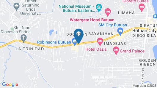 Hotel Oazis Butuan Map
