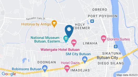 Watergate Hotel Butuan City Map