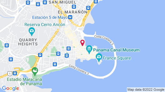 Hotel Casa Panamá Map