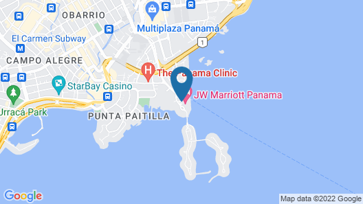 JW Marriott Panama Map