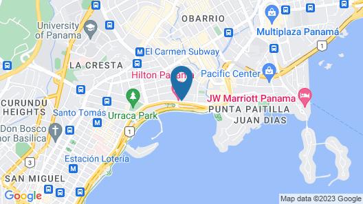 Hilton Panama Map